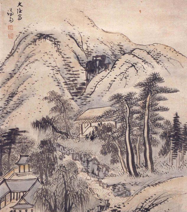 Jeong Seon~Daeeunam Hermitage - Classical art