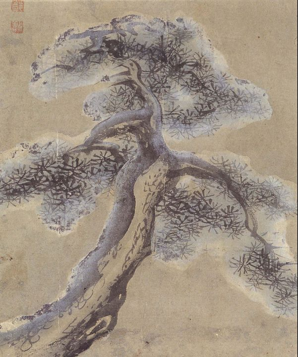 Jeong Seon~Old Pine Tree Covered in - Classical art