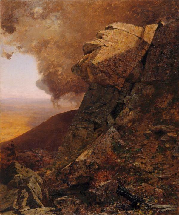 Jervis McEntee~A Cliff in the Katski - Classical art