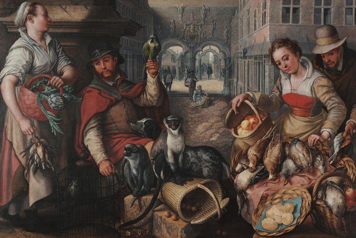 Joachim Beuckelaer~Vendor of Exotic - Classical art
