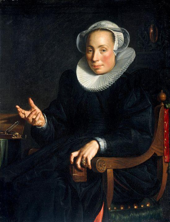 Joachim Wtewael~Portrait of Christin - Classical art