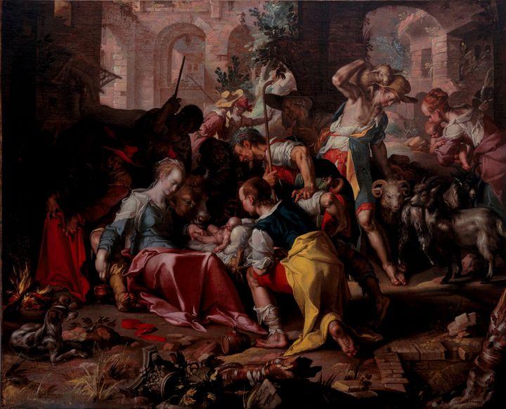 Joachim Wtewael~The Adoration of the - Classical art