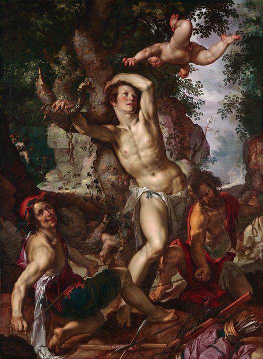 Joachim Wtewael~The Martyrdom of Sai - Classical art