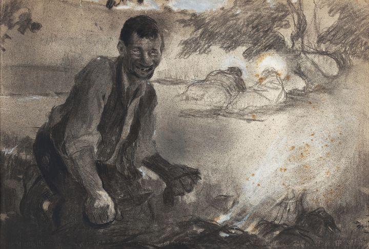 Joaquin Mir Trinxet~Untitled. Drawin - Classical art