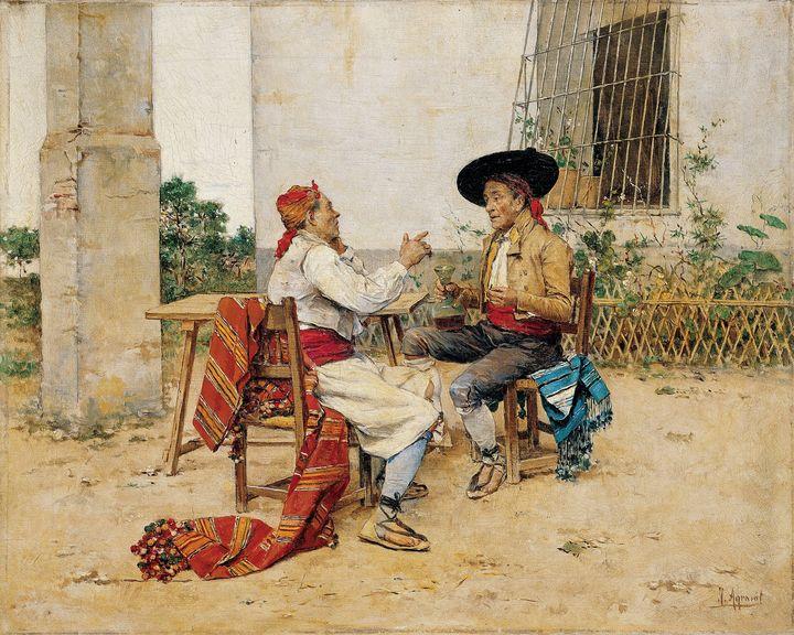 Joaquín Agrasot~Two Inhabitants of t - Classical art