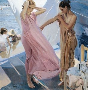 Joaquín Sorolla~After Bathing, Valen