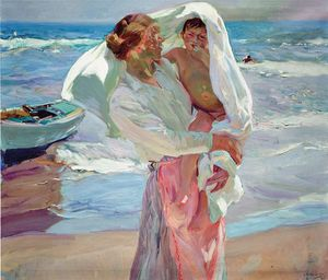 Joaquín Sorolla~After Bathing