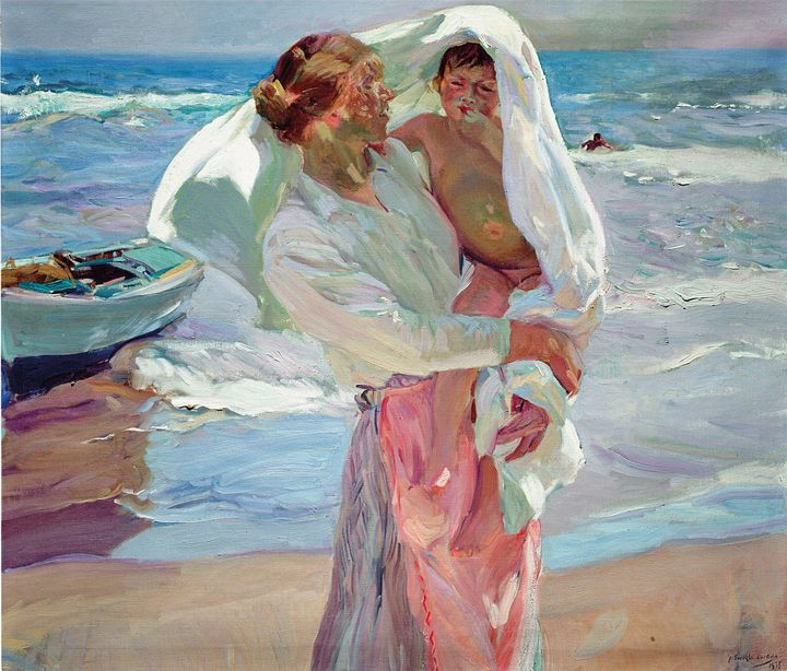 Joaquín Sorolla~After Bathing - Classical art