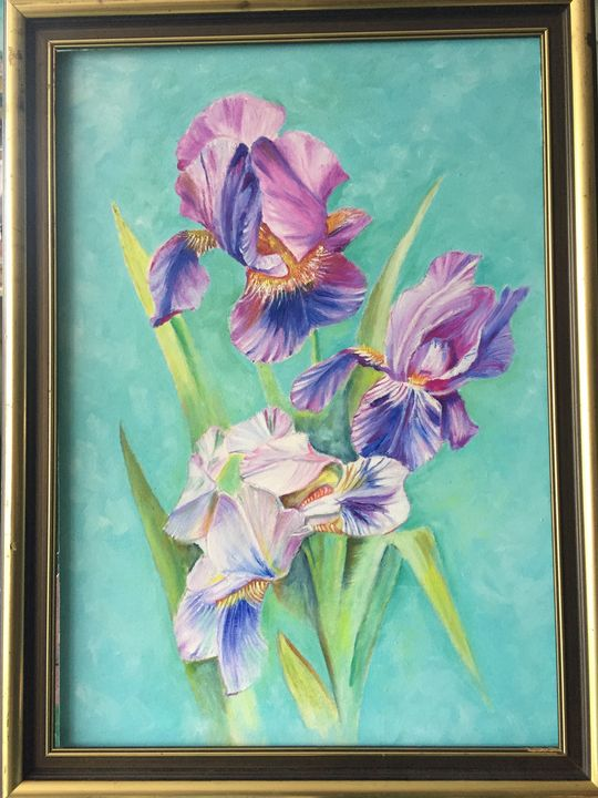 Orchid oil painting - FaAi