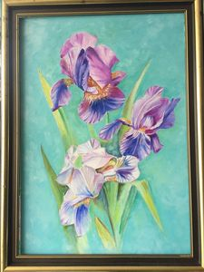 Orchid oil painting