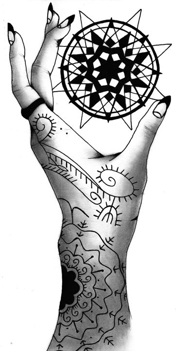 Tattoed Hand - Ariel Stafford