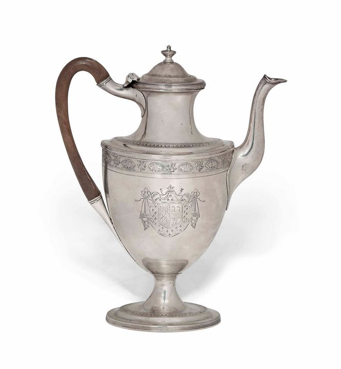SILVER VASE-SHAPED COFFEE POT - ROEL AND EMILIO SHOP