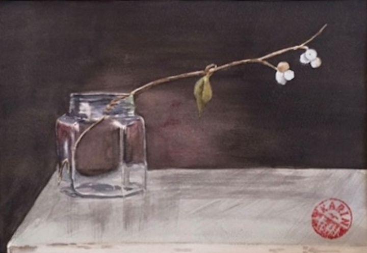 Snowberries - Karin Minshull Original Watercolor paintings