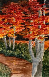 Fall - Karin Minshull Original Watercolor paintings
