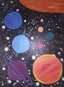 Glowing solar system