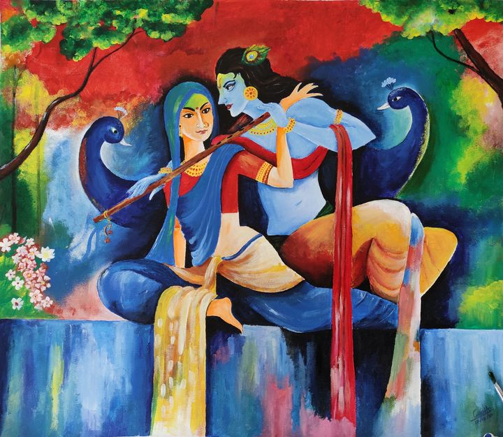 Radha Krishna - AB's Arts