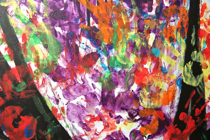 Colorful hand print art - Alvin Wong Photography Gallery
