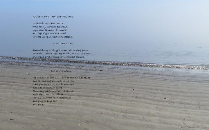 Grief Rides The Ebbing Tide - Coastal Poetography