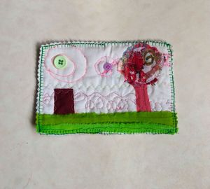 another world1 fabric postcard - sylvia