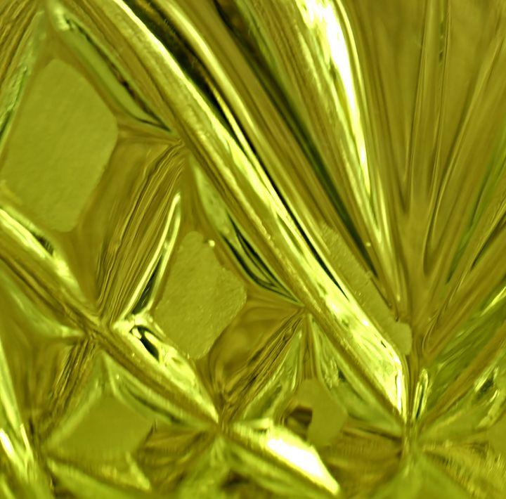 Green Glass Cut Crystal - 50m30n3-3153