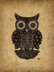 Harrison the Owl 9x12 inch