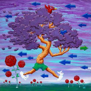 Going Rouge Tree 24 X24 - Kyle Wood Art
