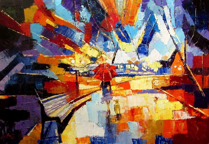 On a walk - Anna Kolos