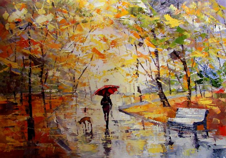 Leaf fall - Anna Kolos