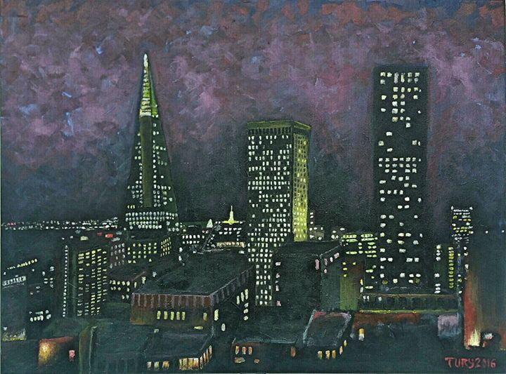 """""""San Francisco At Night"""" - Tury Arts"""