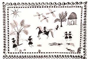 Warli - A Farmland Depiction