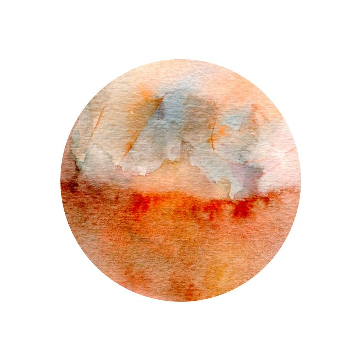 Watercolor and Circle - Martine Hébert