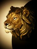 Lion head hard stone sculpture