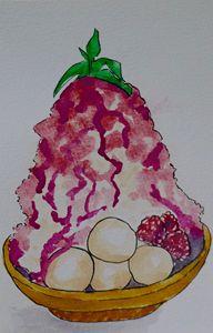 Japanese Raspberry Shaved Ice