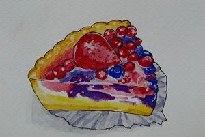 Fruit Tart Slice