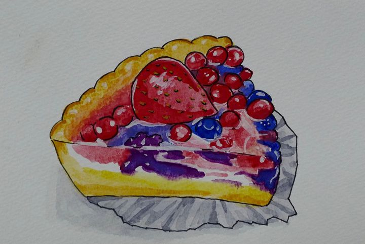 Fruit Tart Slice - Simply Sweet