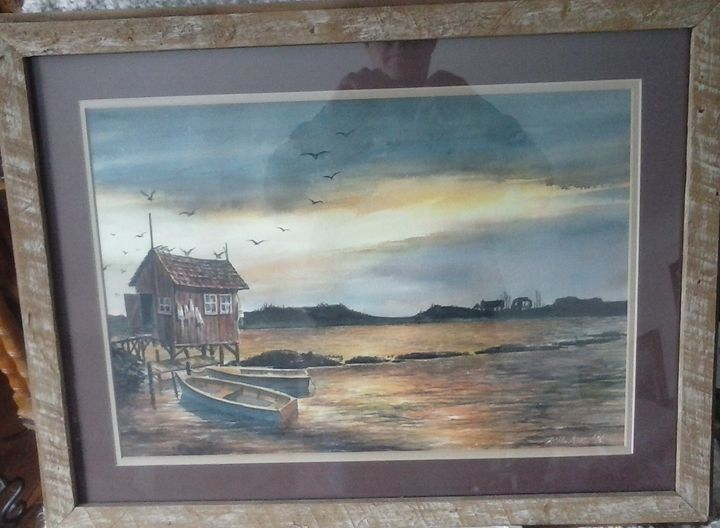 Seaside Sunset - VintageGrossePointeArt