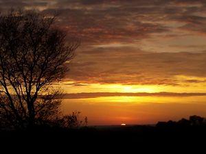 early morning fall sunrise