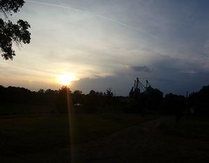 sunset over Tally Farm
