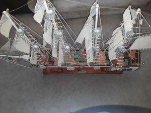 Model big wooden ship
