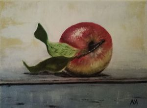 Apple still life painting