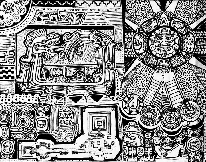 Quetzalcóatl & Tonatiuh - Topiltzin G