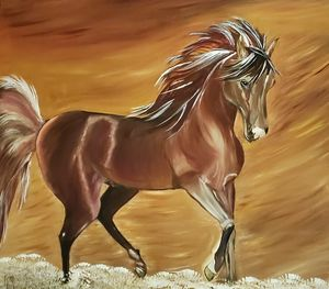 Beautiful horse - Sofic art