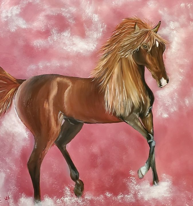 Horse in pink - Sofic art