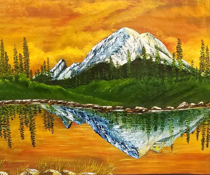 Mt. Rainier  USA - Sofic art