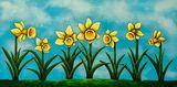 Daffodil Parade Original Painting