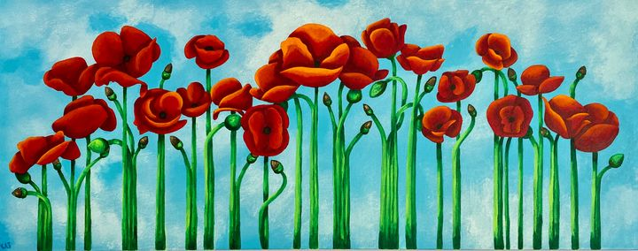 Poppies Strolling - Blue Door Arts