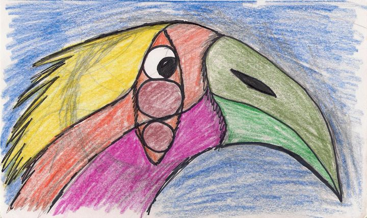 A Colorful Bird - Gloria's Art Works