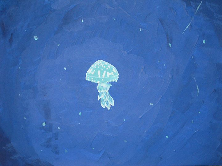 The Lone Jellyfish - Gloria's Art Works