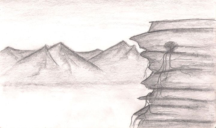 Cliffs and Mountains - Gloria's Art Works