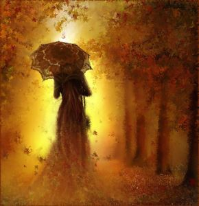 Lady with umbrella -50% off